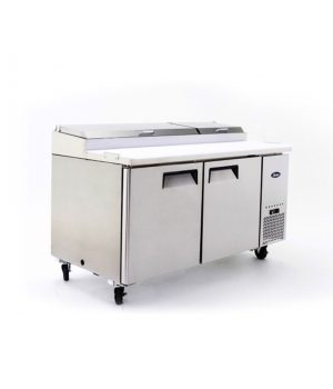 double door food prep table fridge